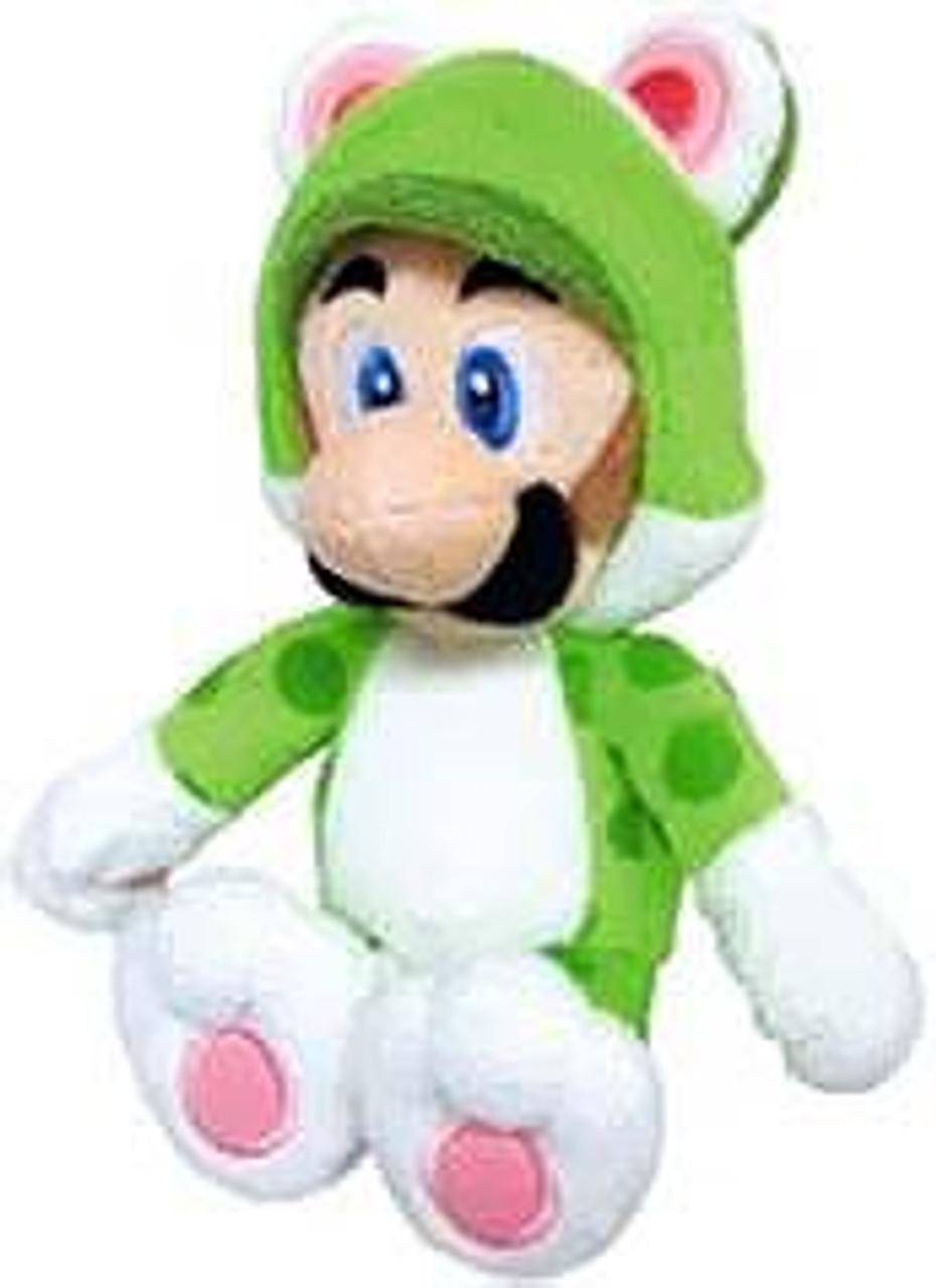 Super Mario 3D World Luigi 10-Inch Plush [Cat]