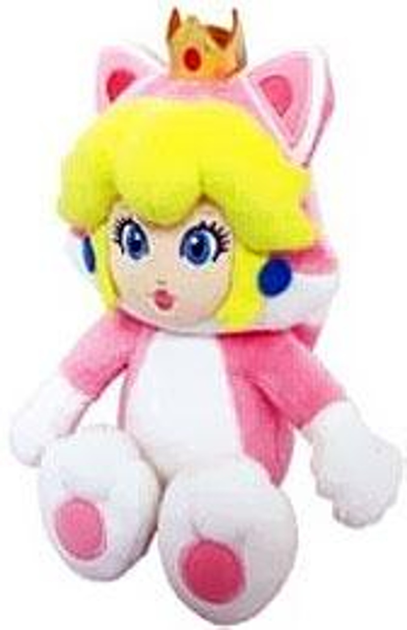 Super Mario 3D World Princess Peach 10-Inch Plush [Cat]