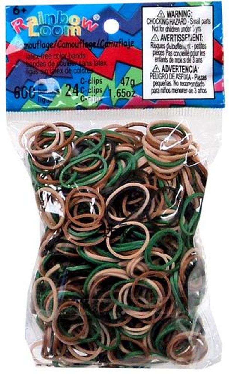 Rainbow Loom CAMO Rubber Bands Refill Pack [600 ct]