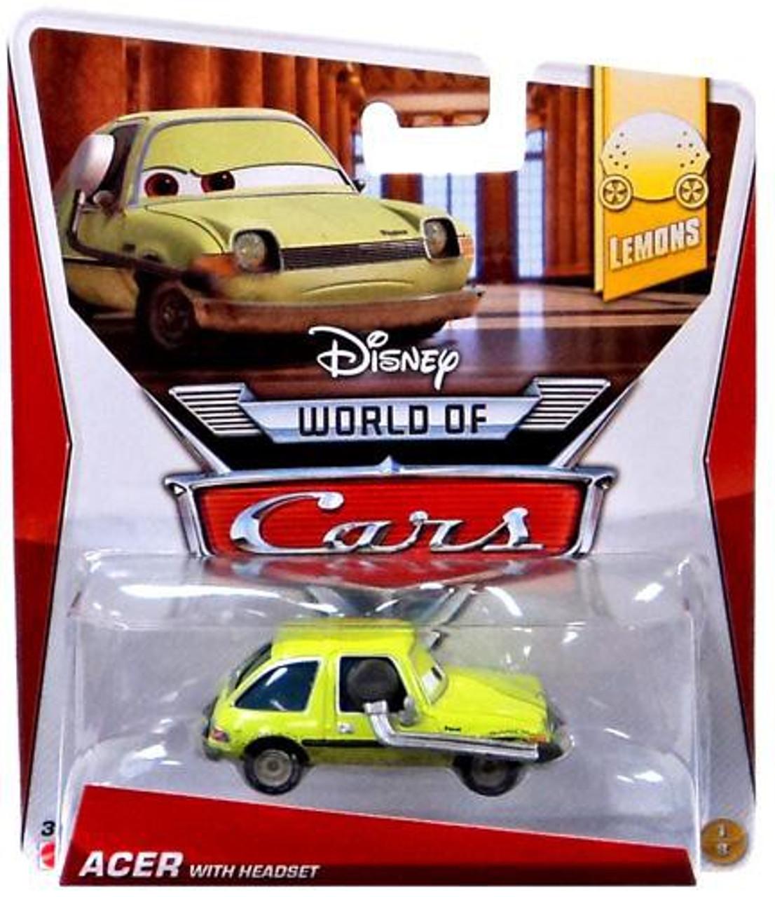 Disney Cars The World of Cars Lemons Acer with Headset Diecast Car #1/8
