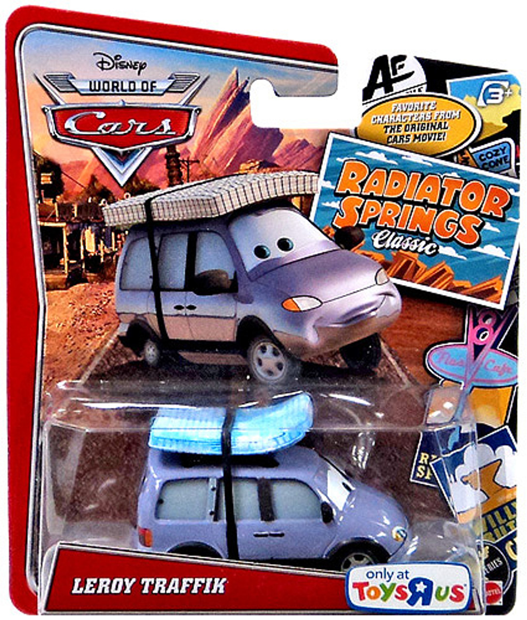 Disney Cars The World of Cars Radiator Springs Classic Leroy Traffik Exclusive Diecast Car