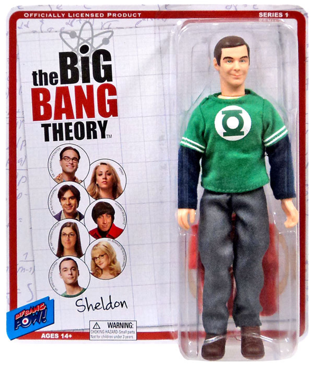The Big Bang Theory Retro Style Sheldon Action Figure [Green Lantern & Flash Shirt]