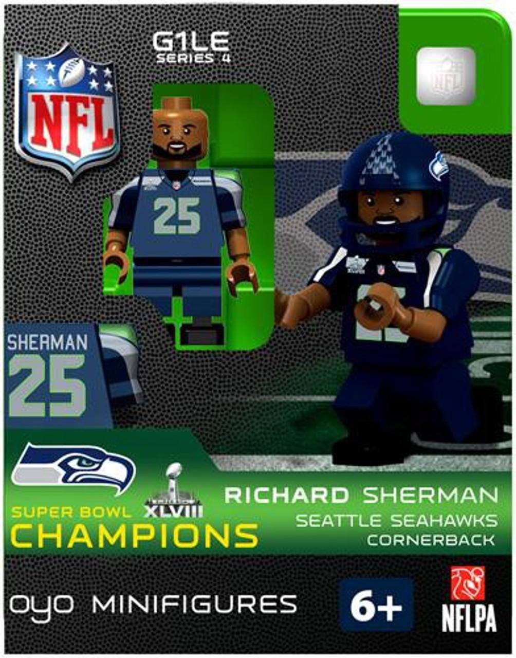 Seattle Seahawks NFL Super Bowl XLVIII Champions Richard Sherman Minifigure