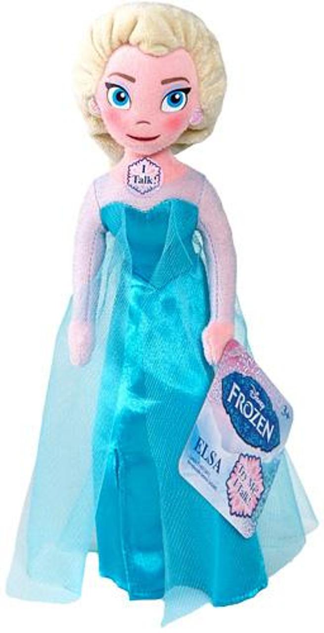 Disney Frozen Talking Bean Bag Elsa 8-Inch Plush Doll
