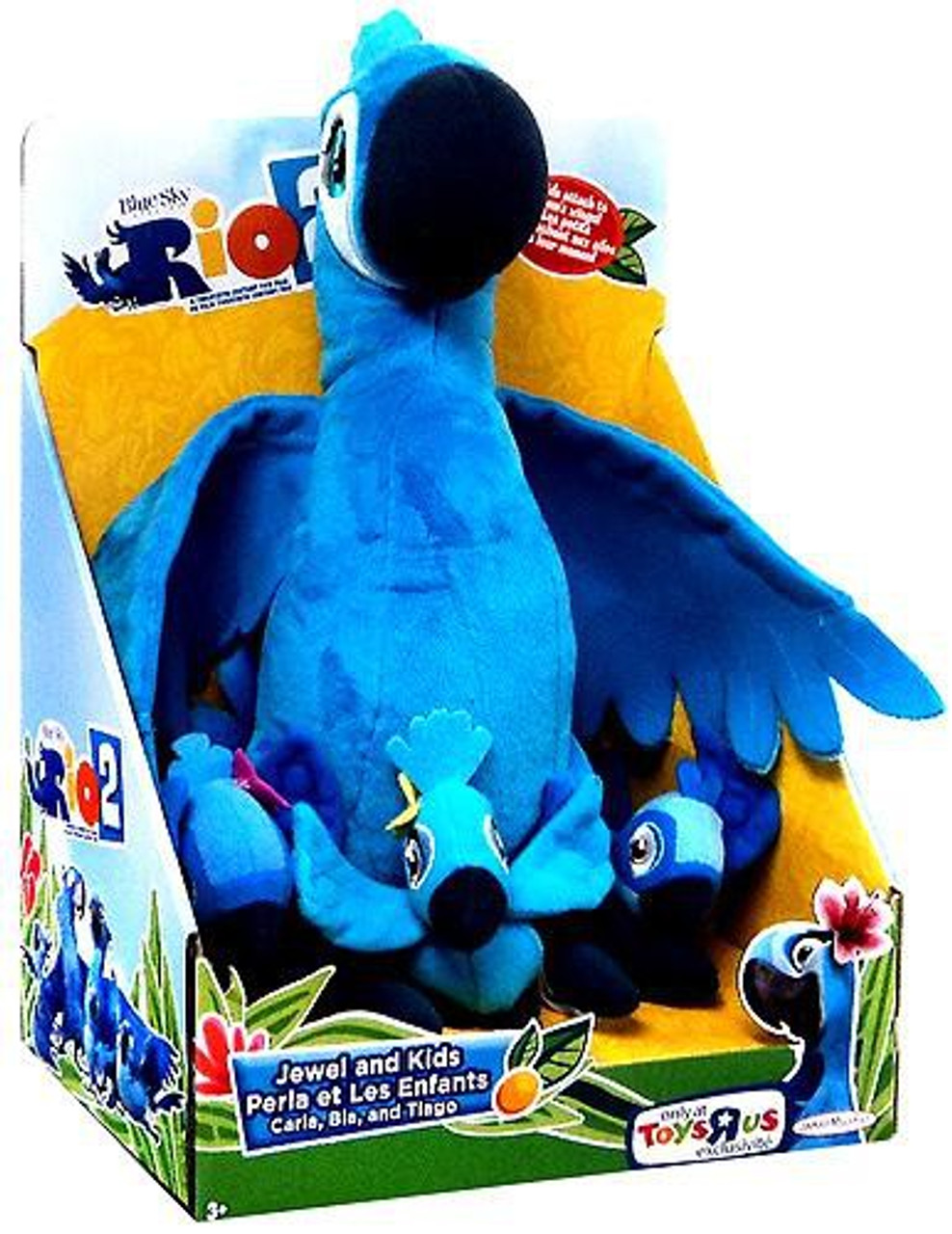 Rio 2 Jewel & Kids Exclusive 12-Inch Plush Set [Carla, Bia & Tiago]