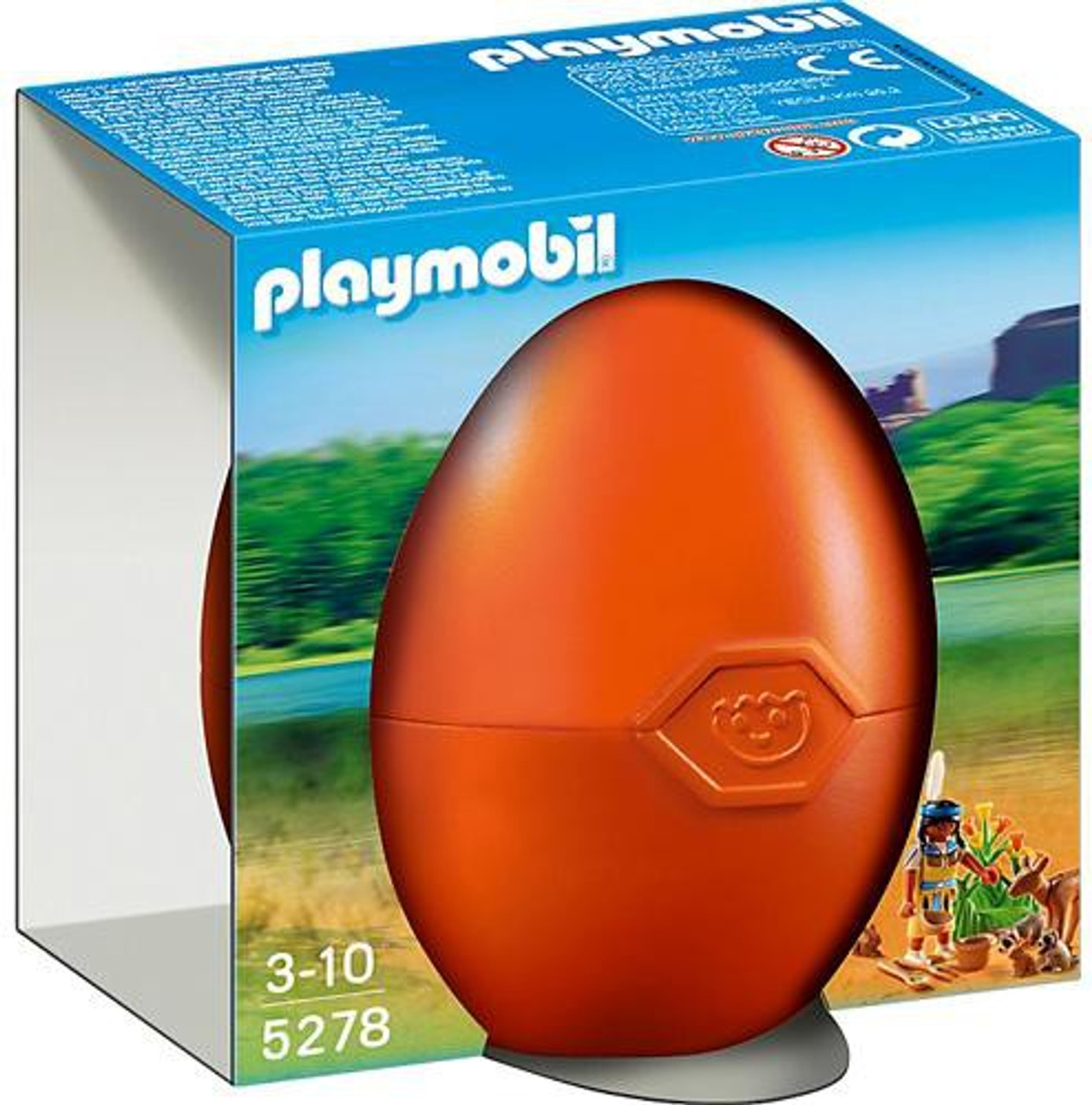 Playmobil Eggs Native American Girl with Forest Animals Set #5278