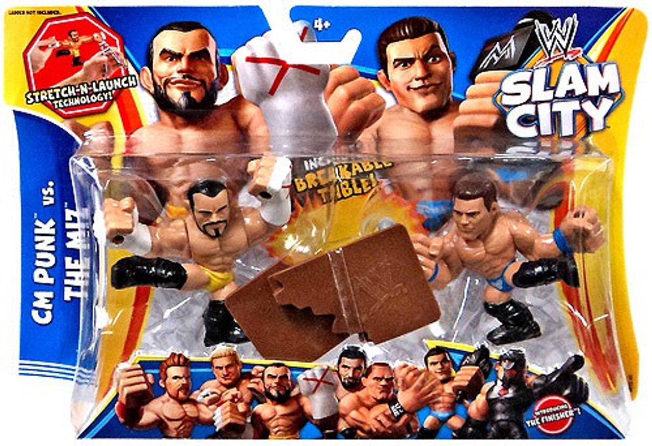 WWE Wrestling Slam City CM Punk & The Miz Action Figure 2-Pack