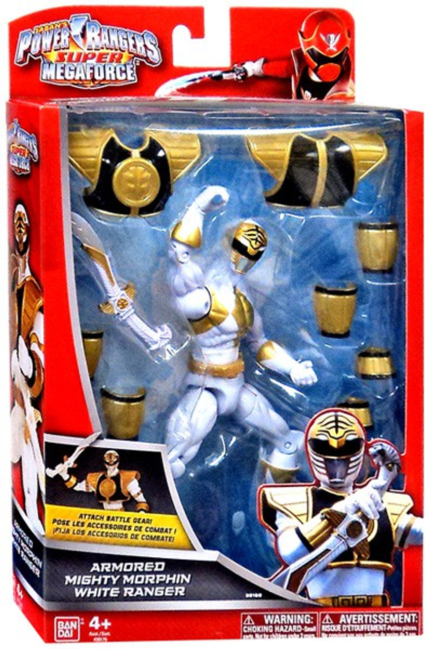 Power Rangers Super Megaforce Armored Mighty Morphin White Ranger Action Figure