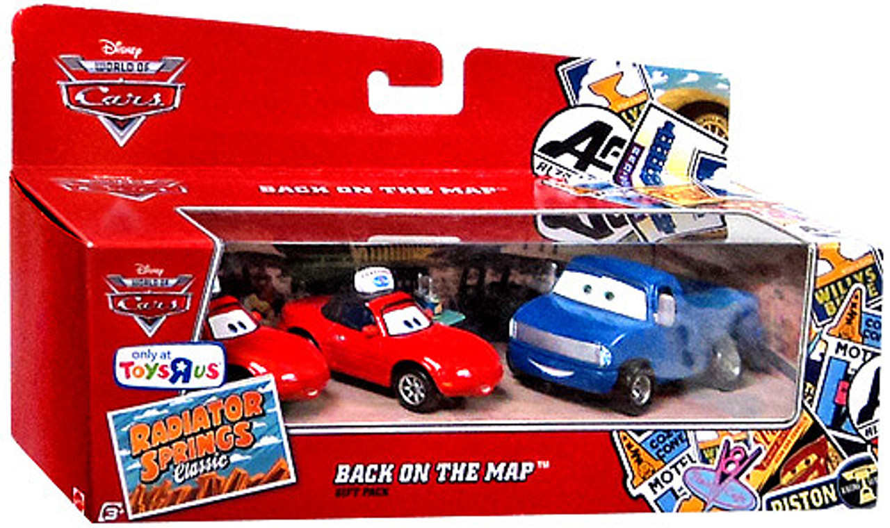 Disney Cars The World of Cars Radiator Springs Classic Back on the Map Gift Pack Exclusive Diecast Car Set
