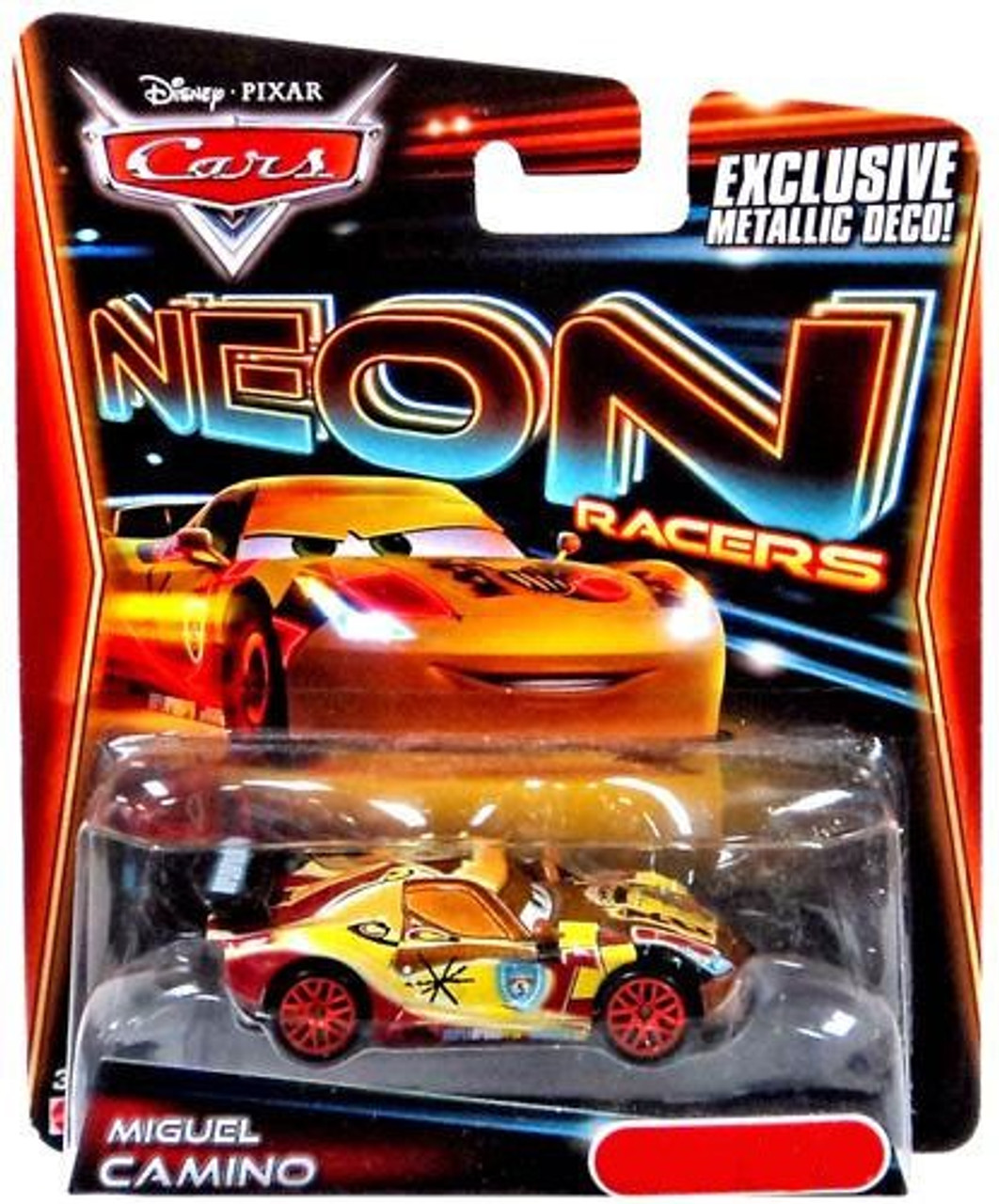 Disney Cars Neon Racers Miguel Camino Exclusive Diecast Car [Metallic Deco]