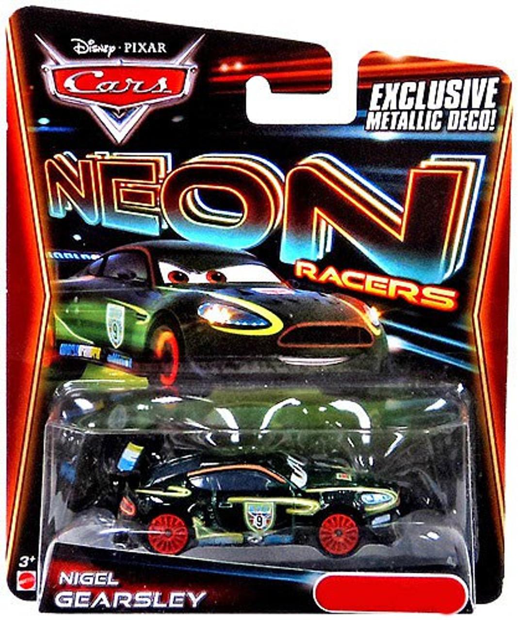 Disney Cars Neon Racers Nigel Gearsley Exclusive Diecast Car [Metallic Deco]