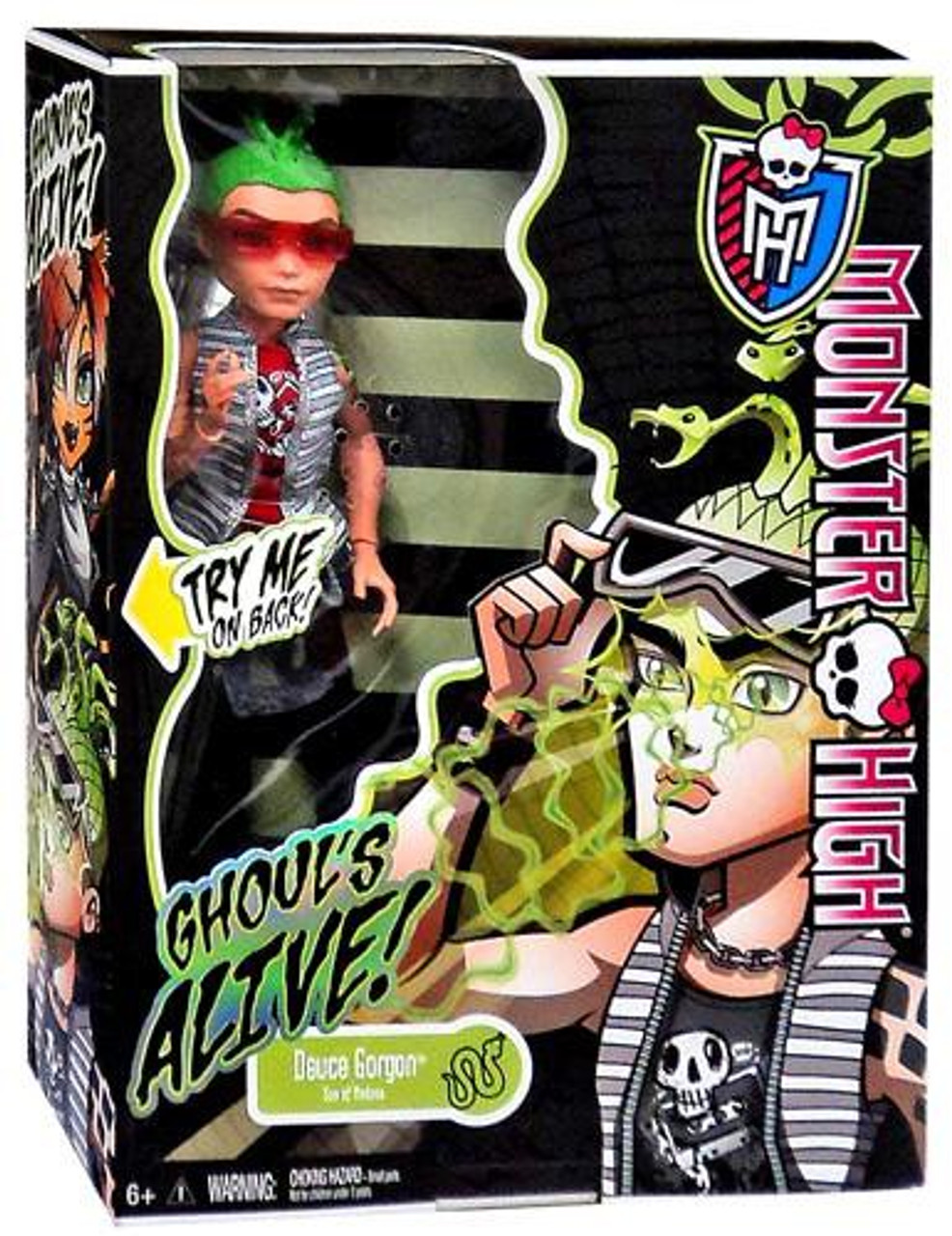 Monster High Ghouls Alive Deuce Gorgon 10.5-Inch Doll