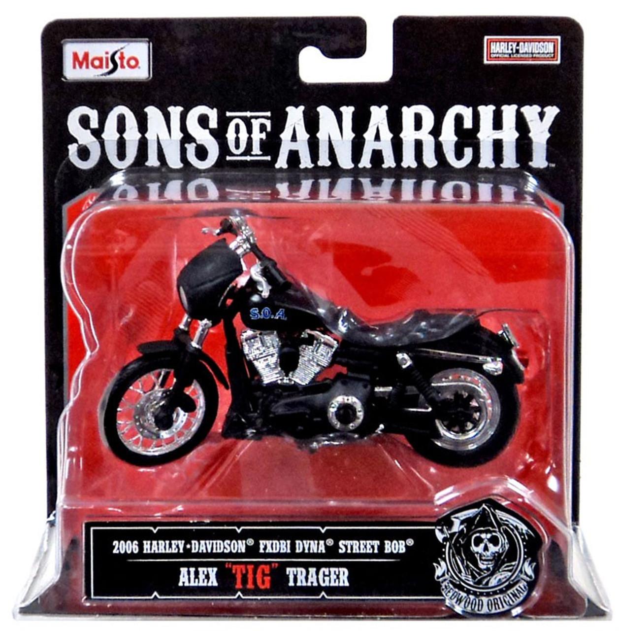 "Sons of Anarchy Alex ""Tig"" Trager Diecast Replica Bike"