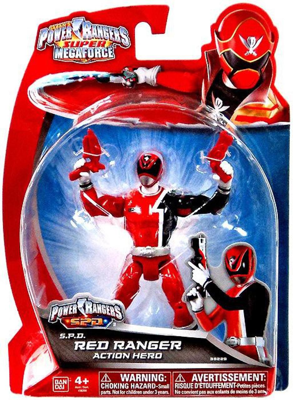 Power Rangers Super Megaforce S.P.D. Red Ranger Action Figure
