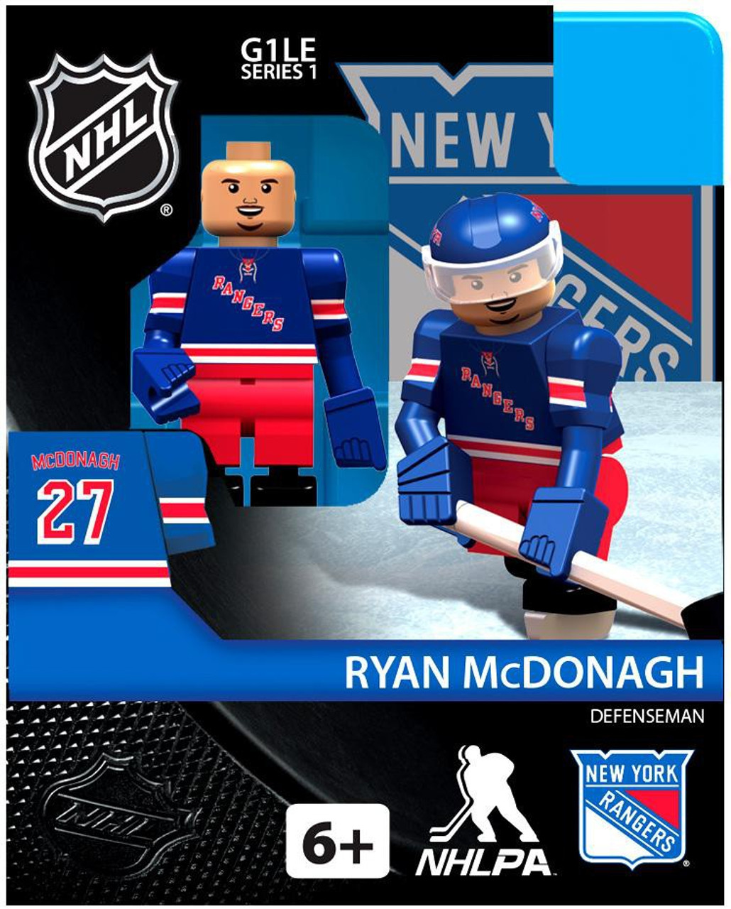 New York Rangers NHL Hockey Generation 1 Series 1 Ryan McDonagh Minifigure
