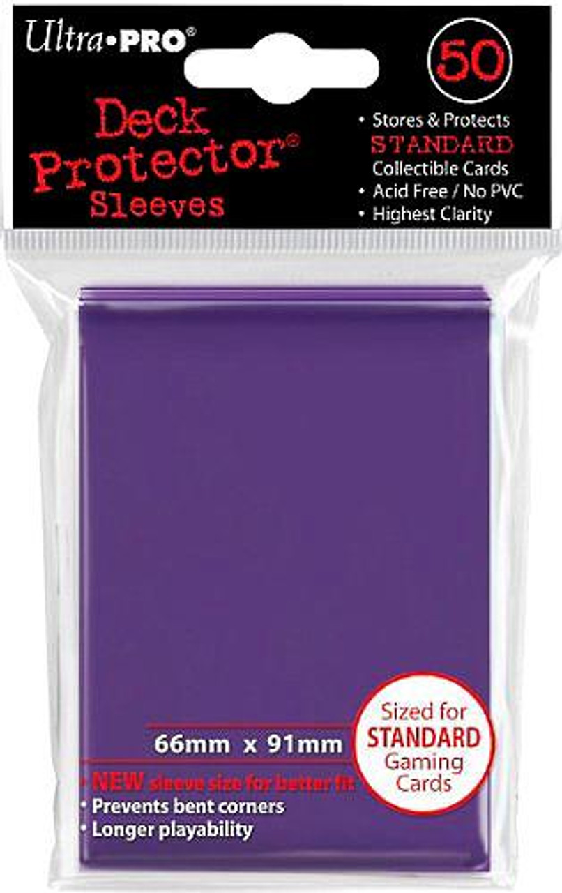 Ultra Pro Card Supplies Deck Protector Purple Standard Card Sleeves [50 Count]