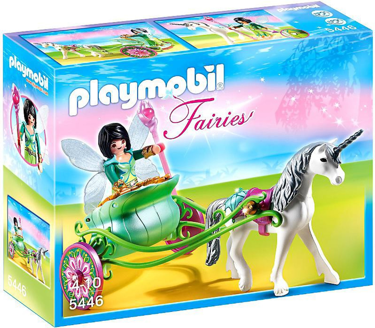 playmobil fairies unicorn carriage with butterfly fairy