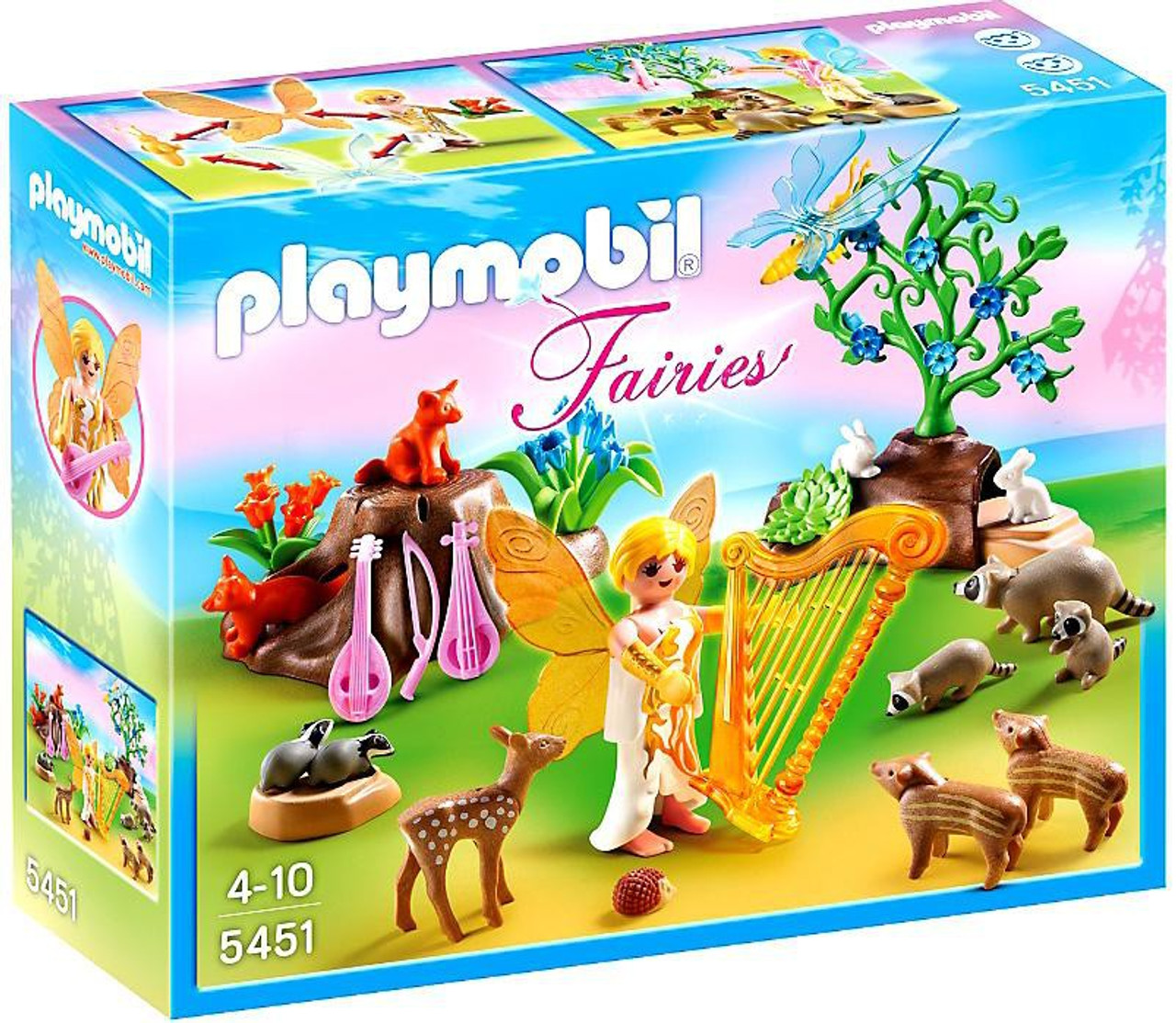 Playmobil Fairies Music Fairy with Woodland Creatures Set #5451