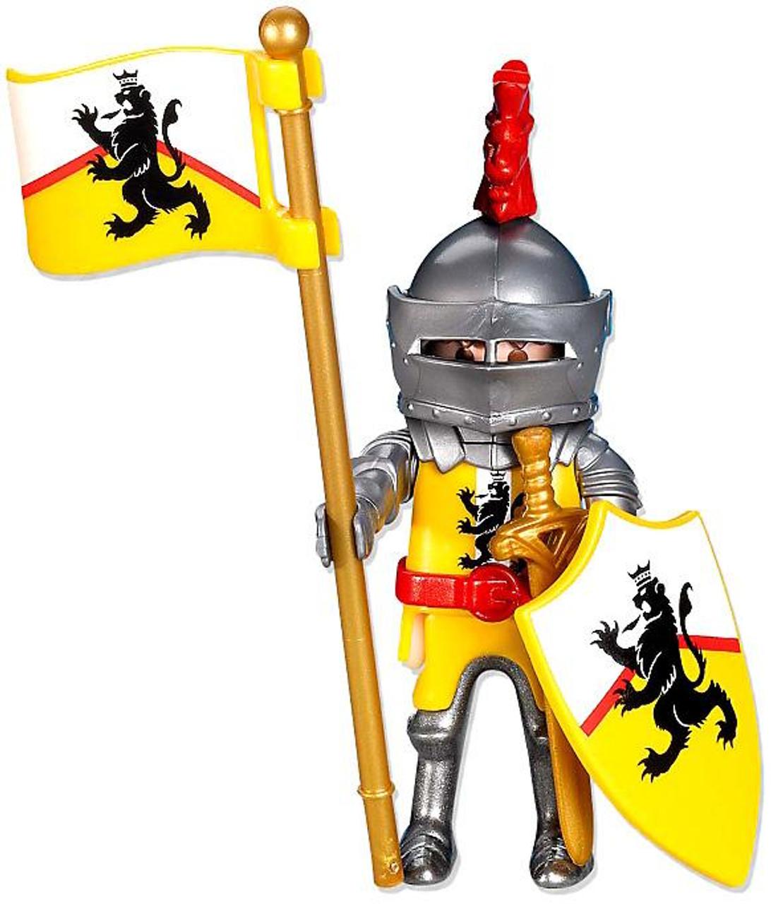Playmobil Knights Yellow Lion Knight Leader Set #7534
