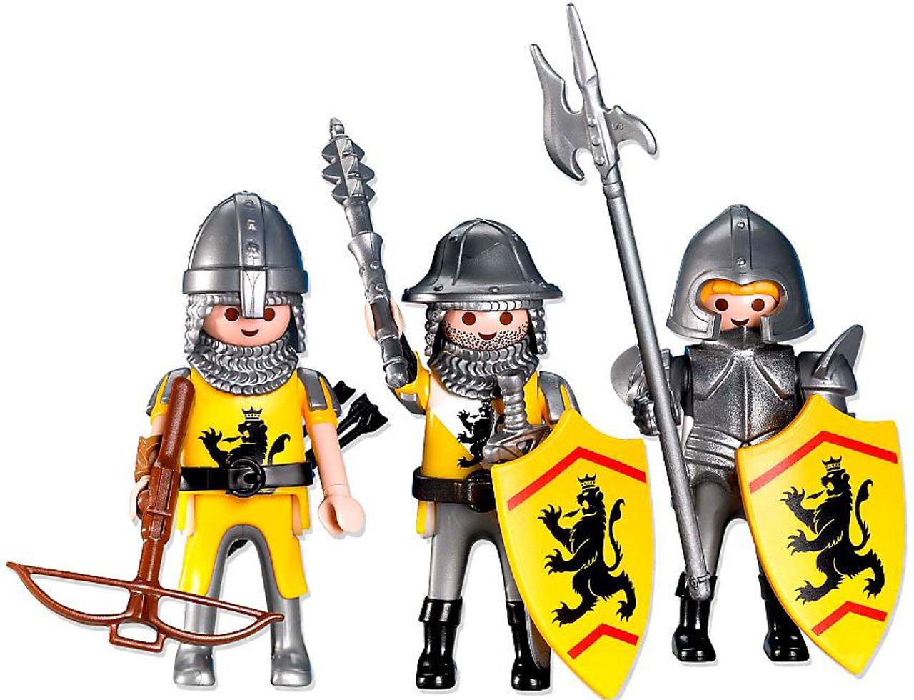 Playmobil Three Yellow Lion Knights Set #7535
