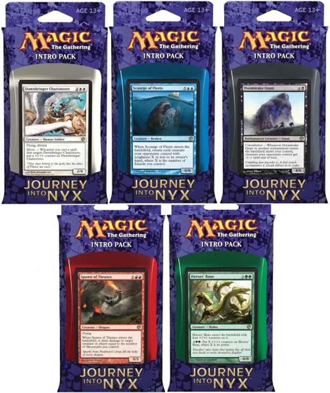 MtG Set of 5 Journey into Nyx Intro Packs