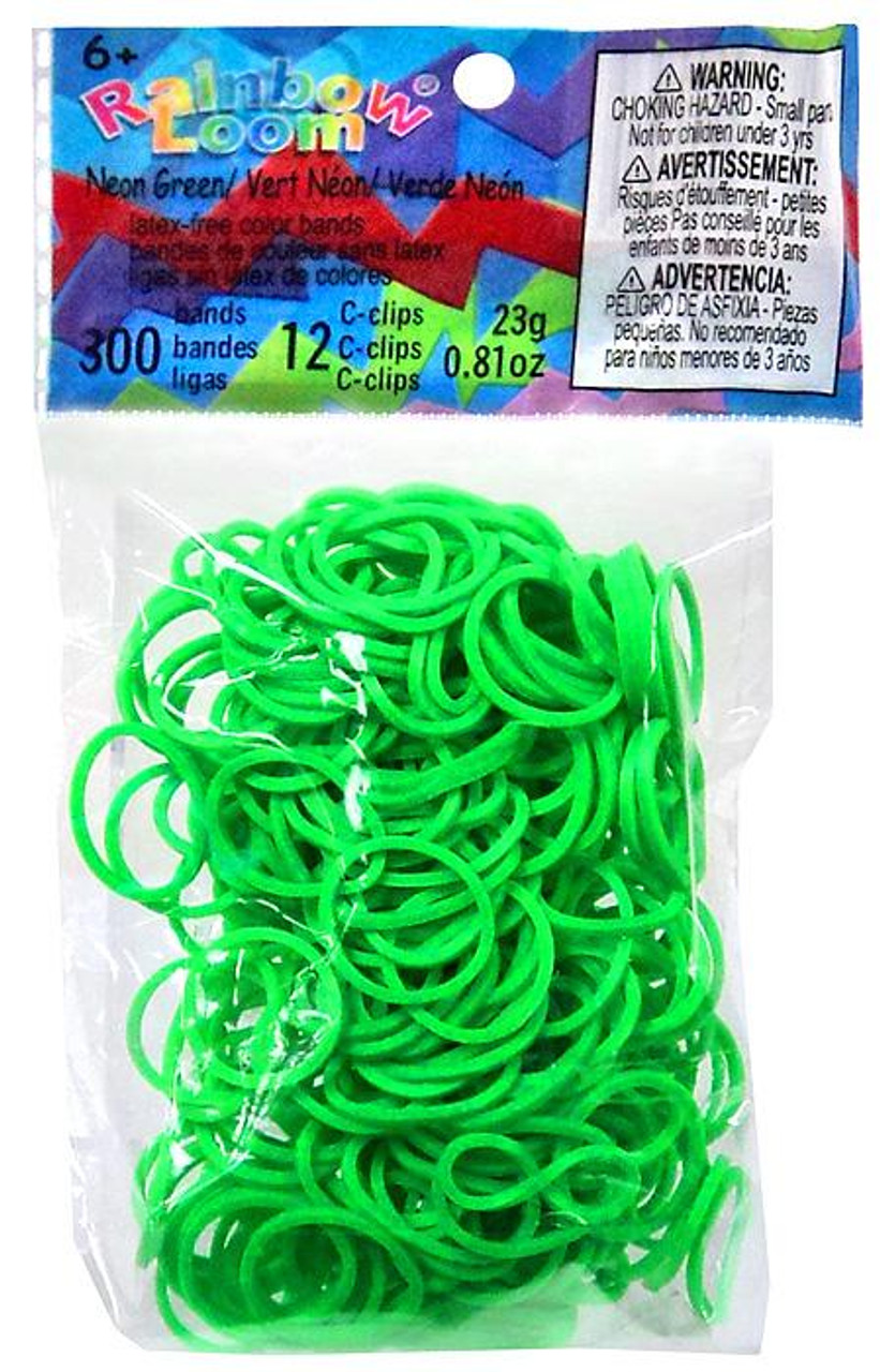 Rainbow Loom Neon Green Rubber Bands Refill Pack [300 ct]