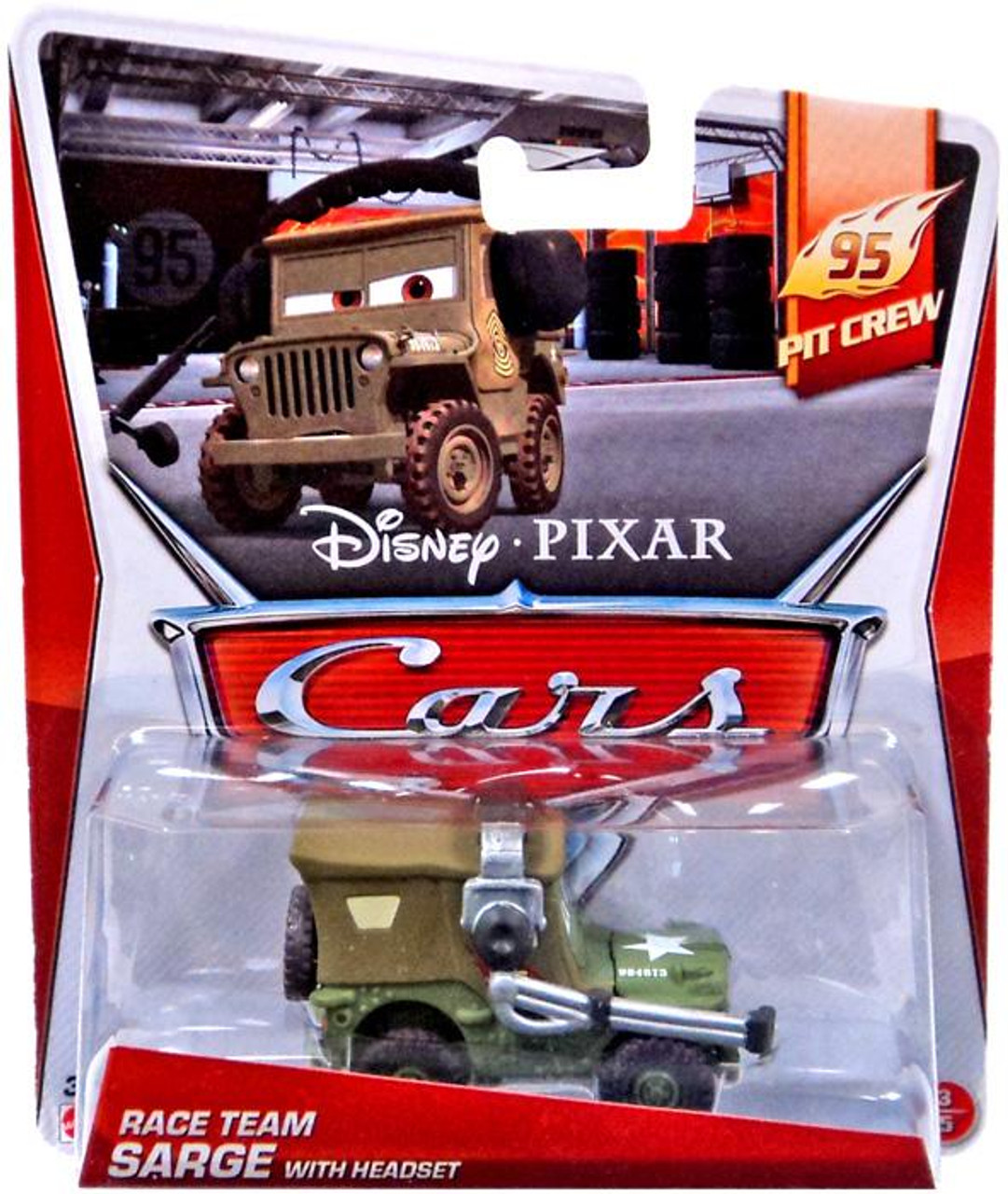 Disney Cars Race Team Sarge with Headset Diecast Car #3