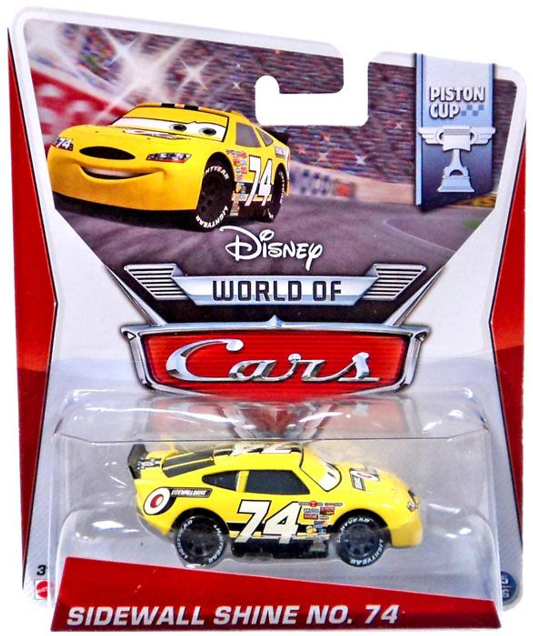 Disney Cars The World of Cars Sidewall Shine No. 74 Diecast Car #15