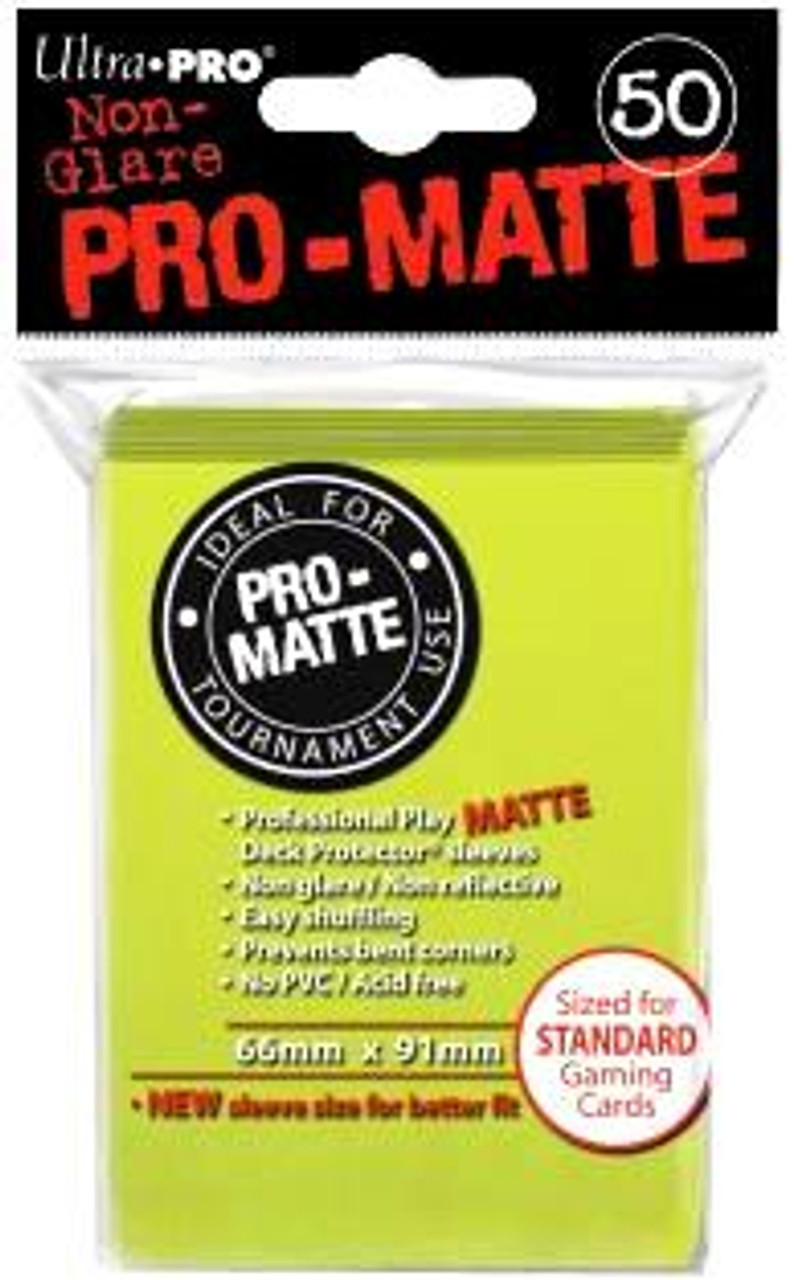 Ultra Pro Card Supplies Non-Glare Pro-Matte Bright Yellow Standard Card Sleeves [50 Count]