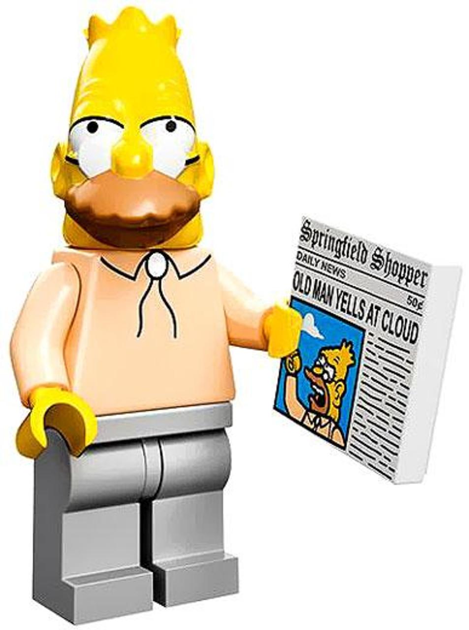 LEGO The Simpsons Simpsons Series 1 Grampa Abe Simpson Minifigure [Loose]