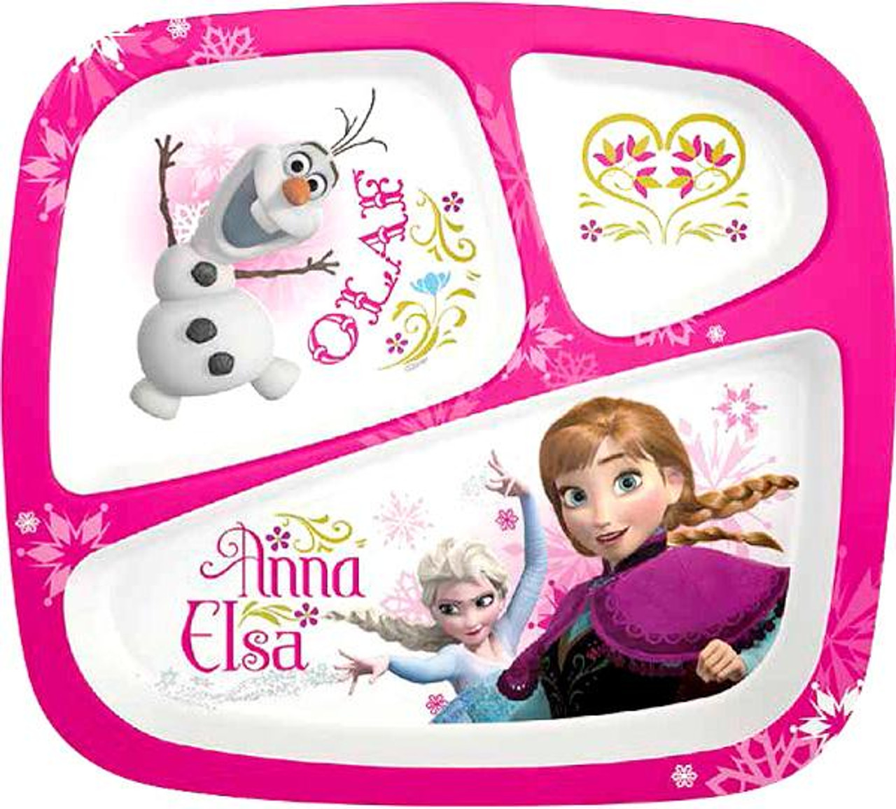 Disney Frozen Anna & Elsa 3-Section Tray
