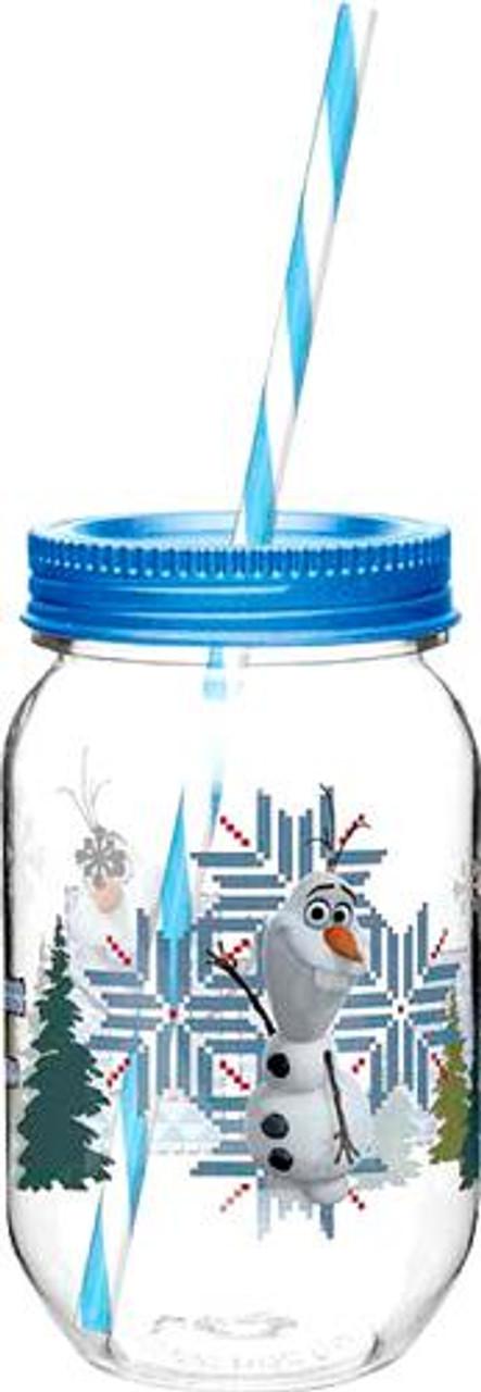Disney Frozen 19 Oz Olaf & Sven Tritan Canning Jar