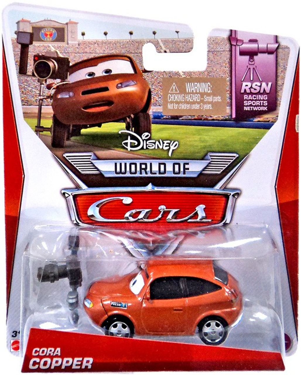 Disney Cars The World of Cars Cora Copper Diecast Car #6 of 8