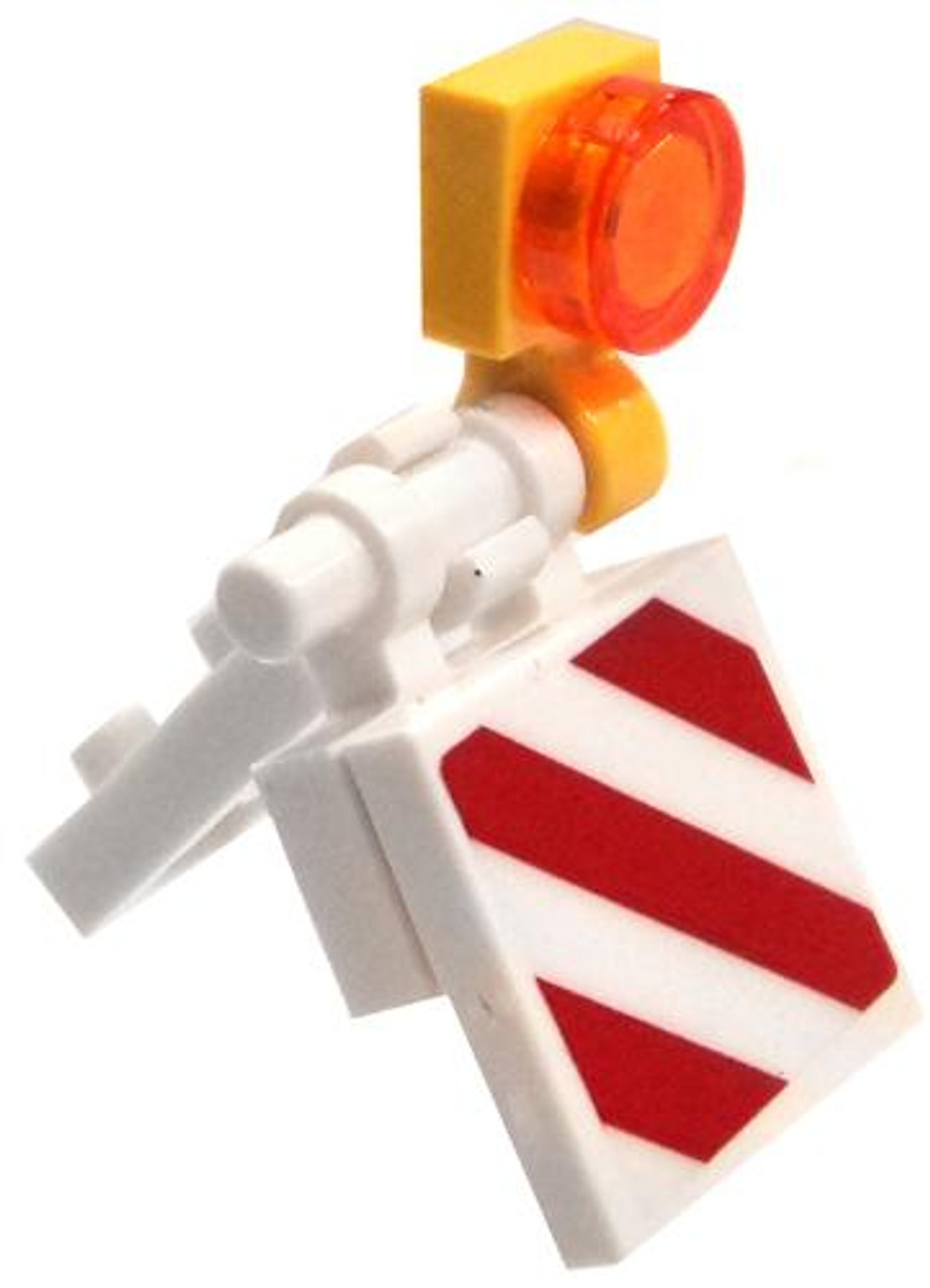 LEGO White Small Construction Barricade [Loose]