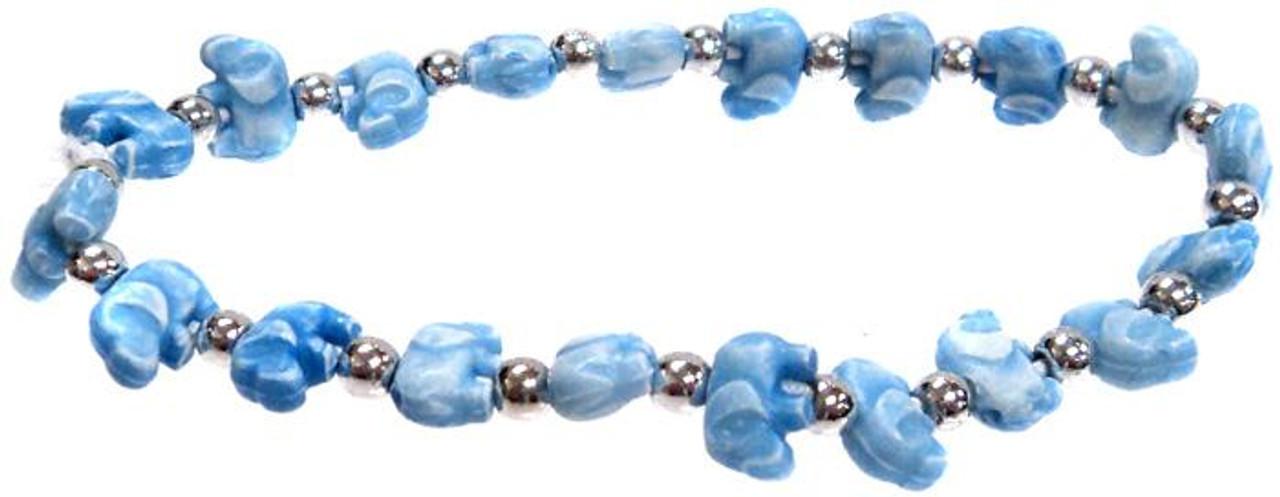 Elephantz Blue Elephants Bracelet