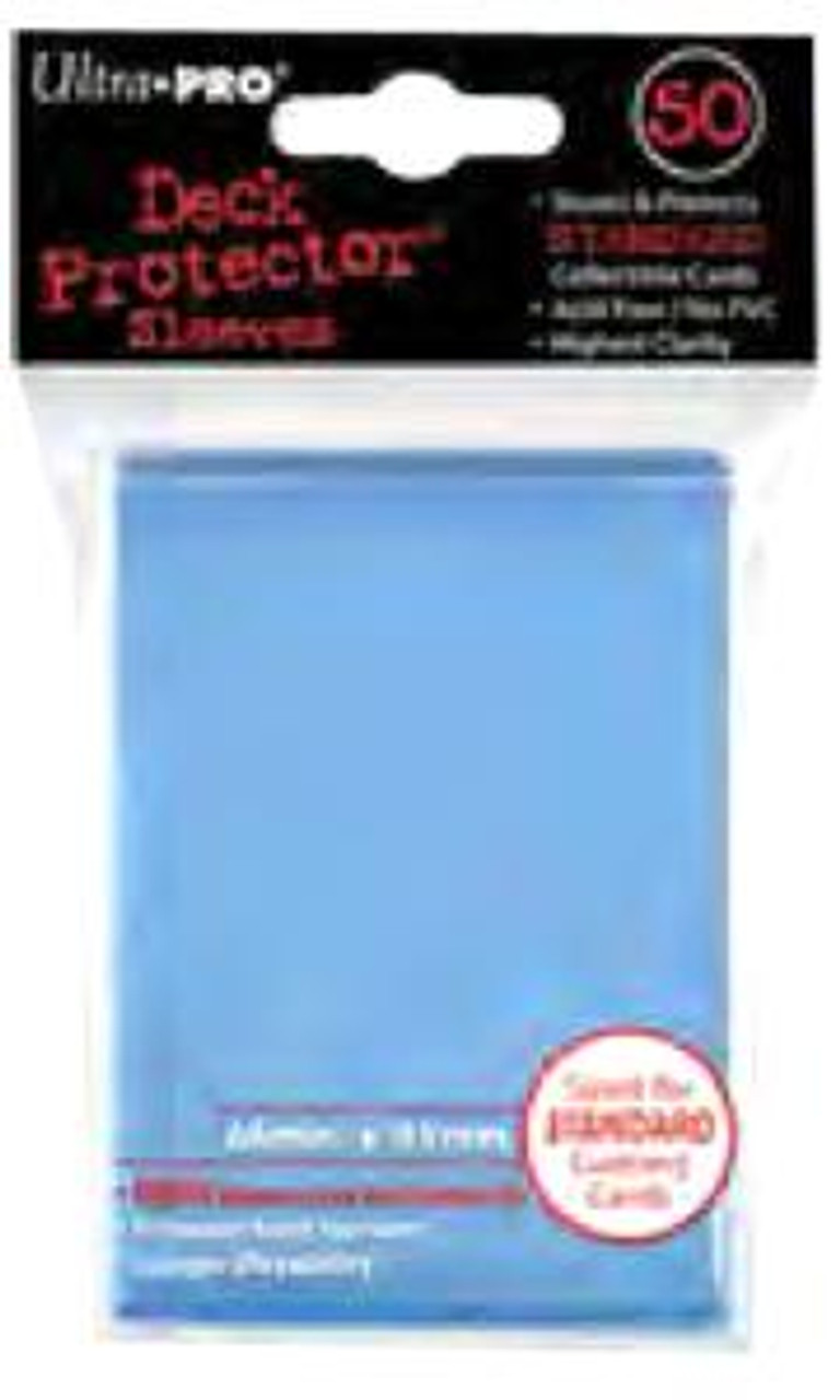 Ultra Pro Card Supplies Deck Protector Light Blue Standard Card Sleeves [50 Count]