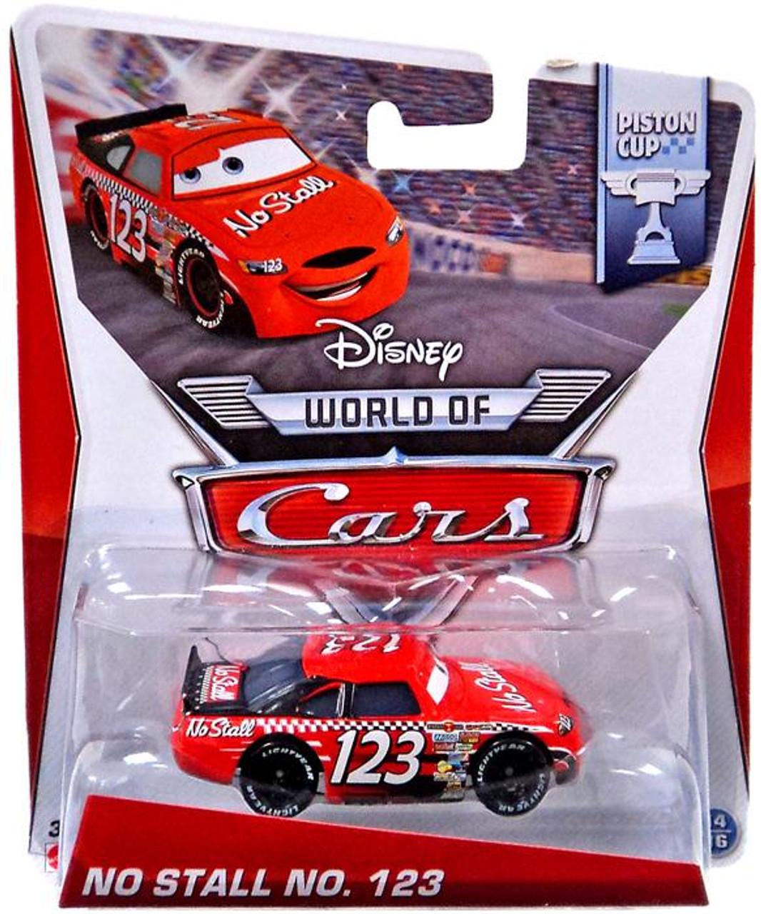 Disney Cars The World of Cars No Stall No. 123 Diecast Car #14