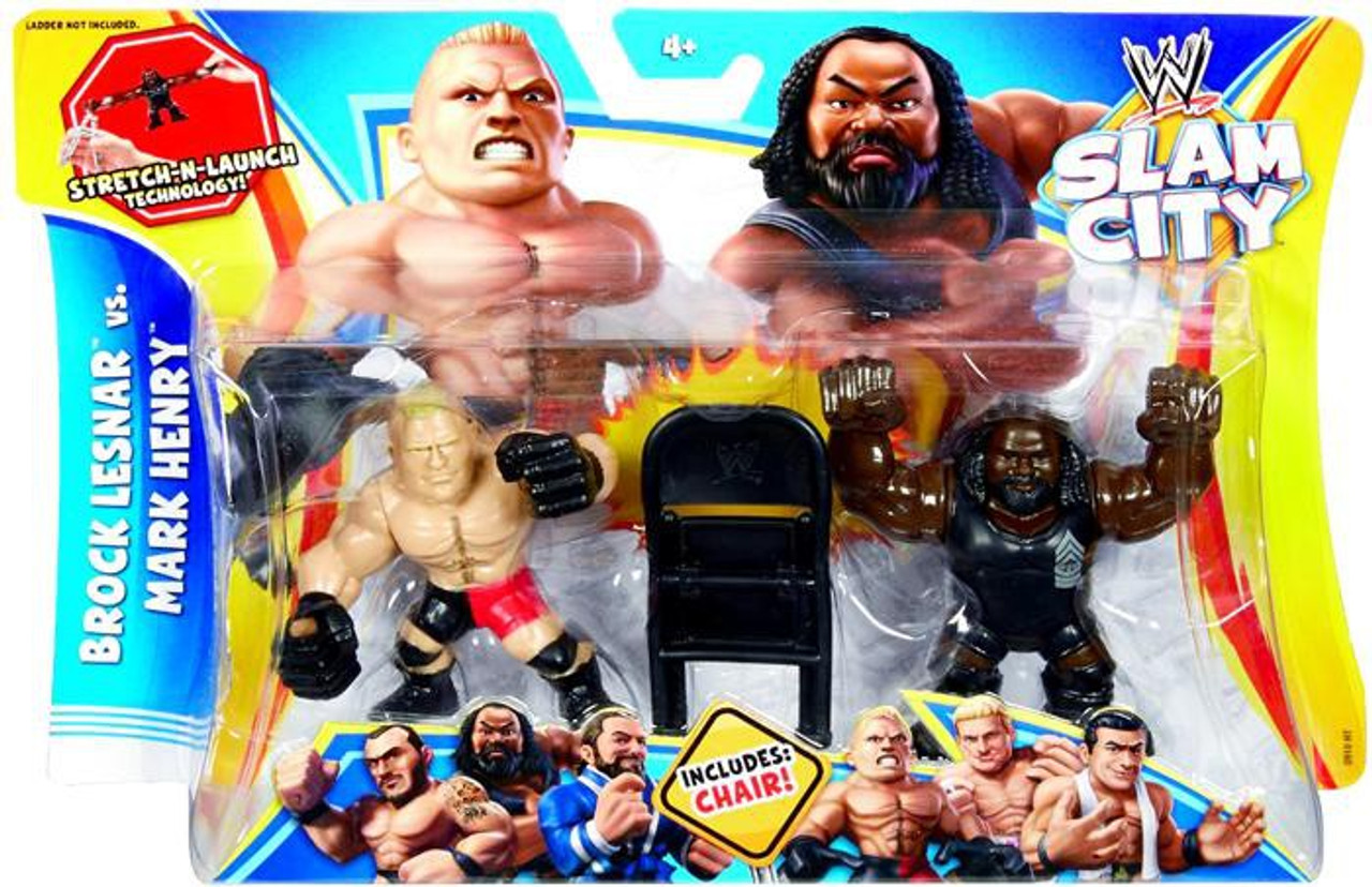WWE Wrestling Slam City Brock Lesnar vs Mark Henry Action Figure 2-Pack