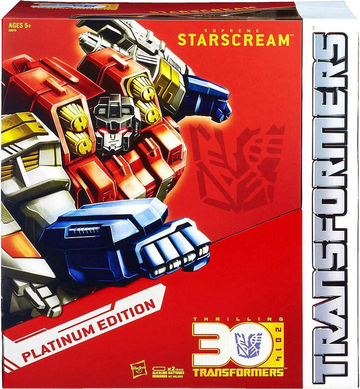 Edition Platinum: Transformers Platinum Edition Supreme Starscream Exclusive