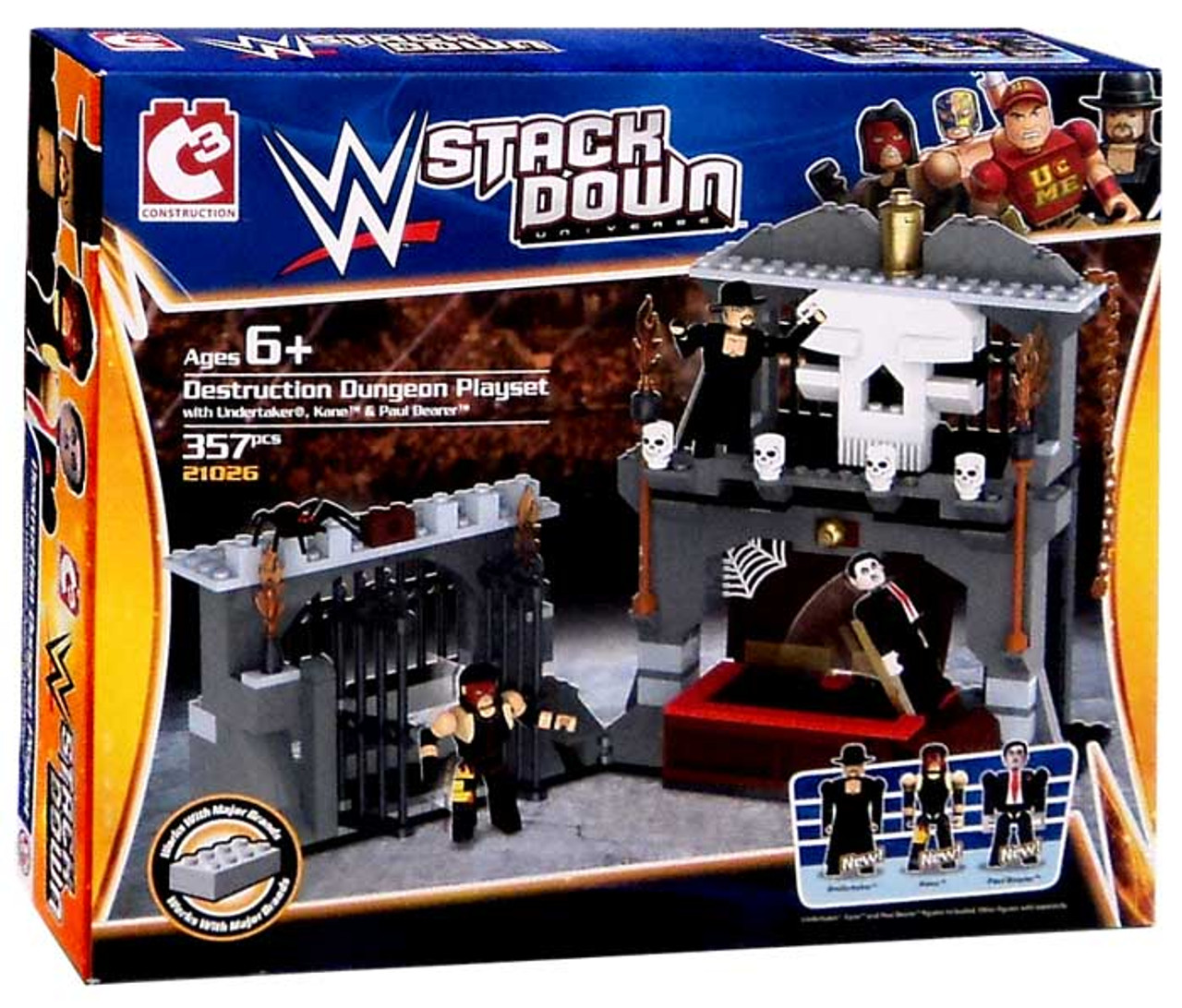 WWE Wrestling C3 Construction StackDown Destruction Dungeon Playset