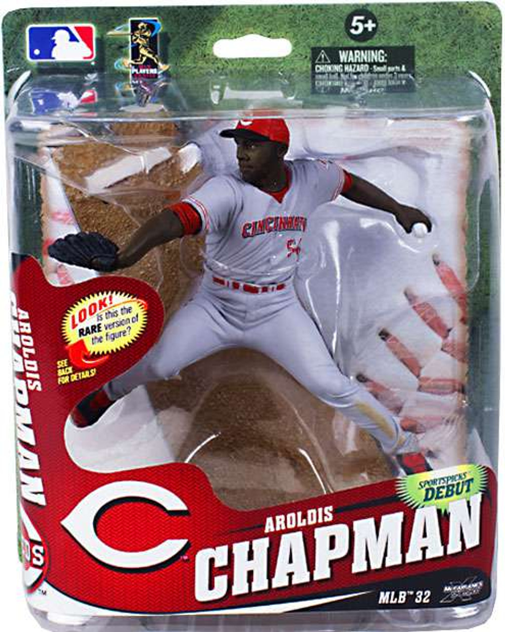 McFarlane Toys MLB Cincinnati Reds Sports Picks Series 32 Aroldis Chapman Action Figure [Gray Uniform]