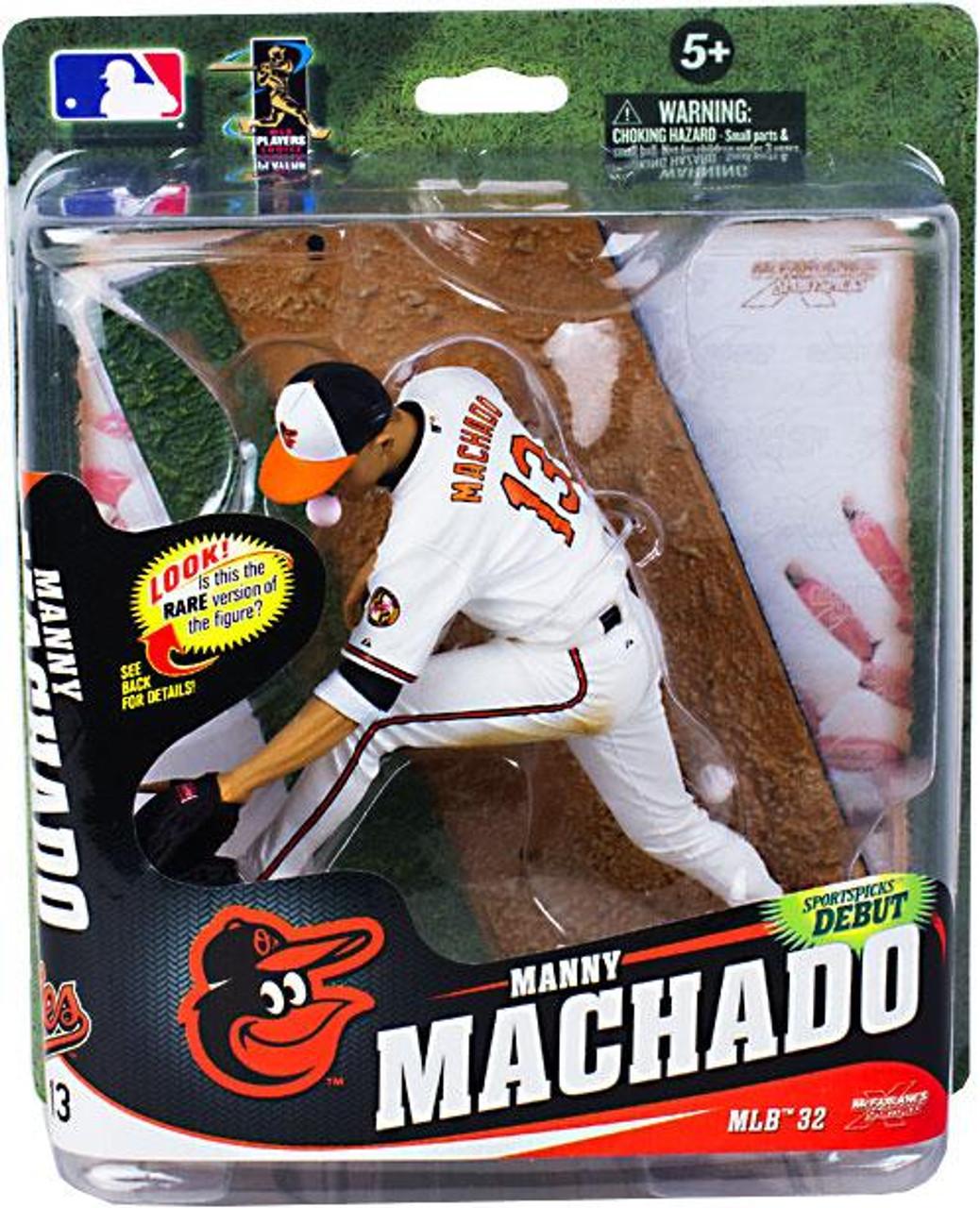 McFarlane Toys MLB Baltimore Orioles Sports Picks Series 32 Manny Machado Action Figure [White Jersey]