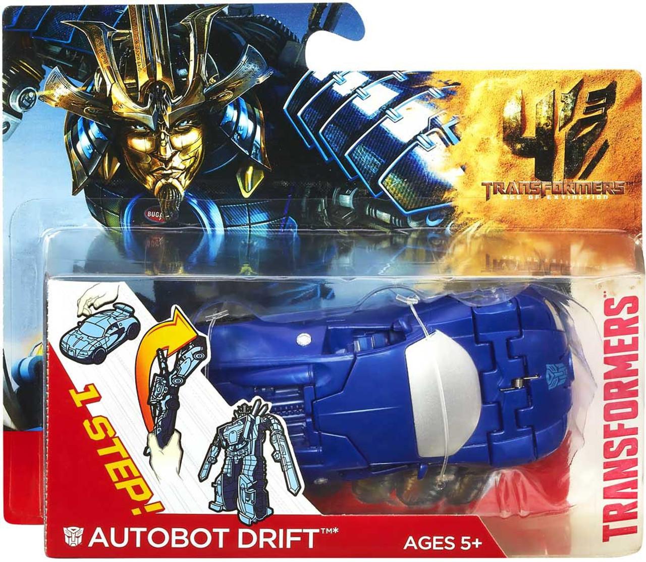 Transformers Age of Extinction 1 Step Changer Autobot Drift Car Action Figure