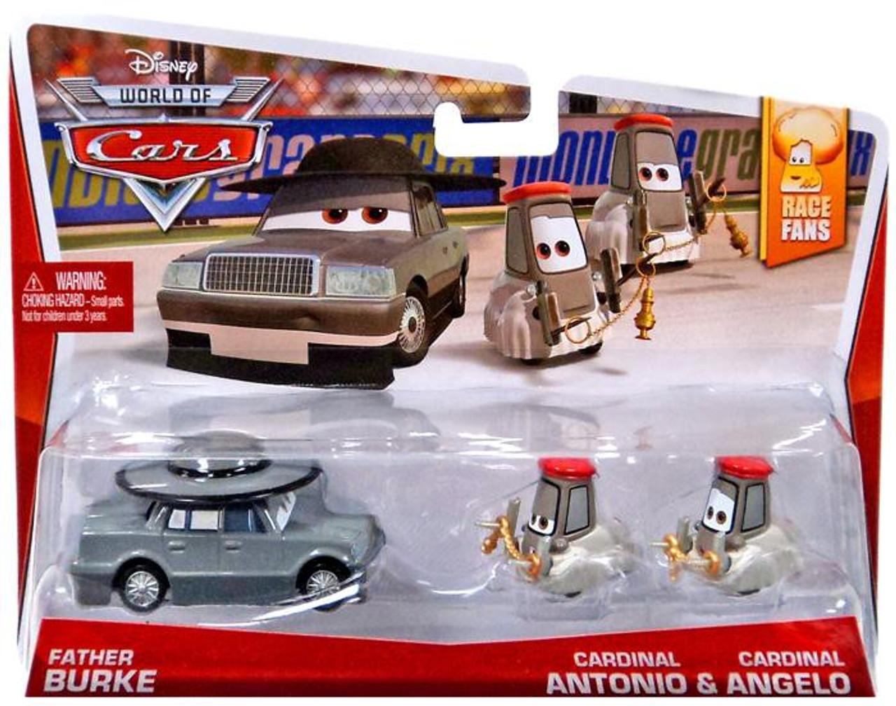Disney Cars The World of Cars Father Burke, Cardinal Antonio & Angelo Diecast Car 3-Pack #2/9, 3/9 & 4/9