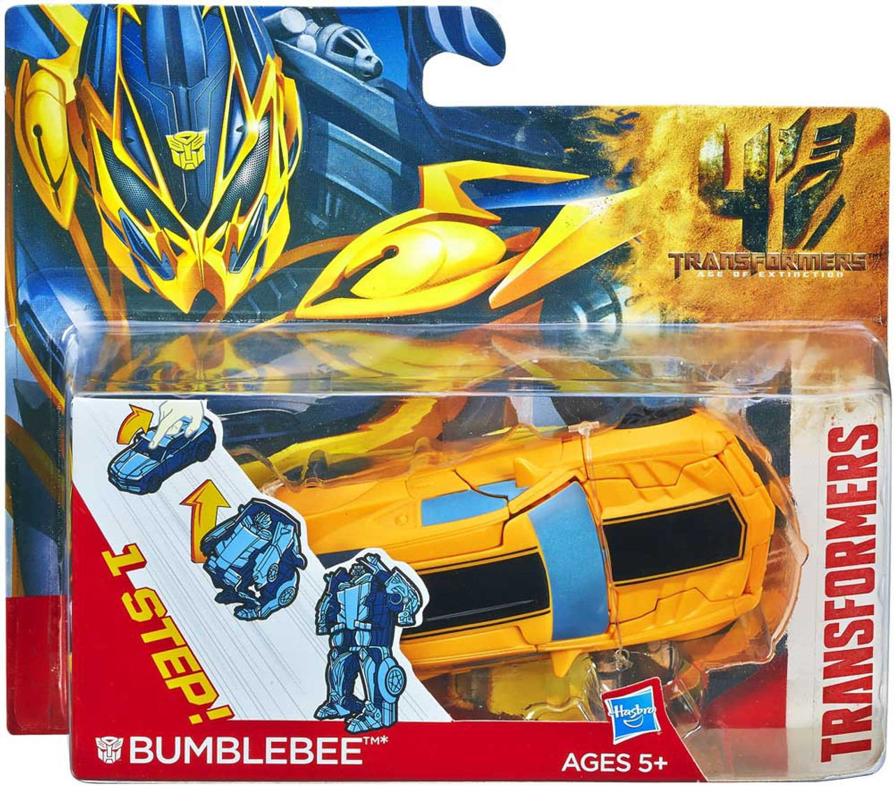 Transformers Age of Extinction 1 Step Changer Bumblebee Action Figure
