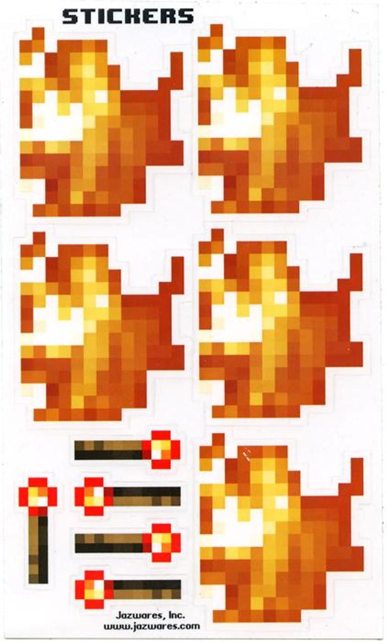 Minecraft Sticker Set Papercraft [Fire & Torch] [Single Piece]