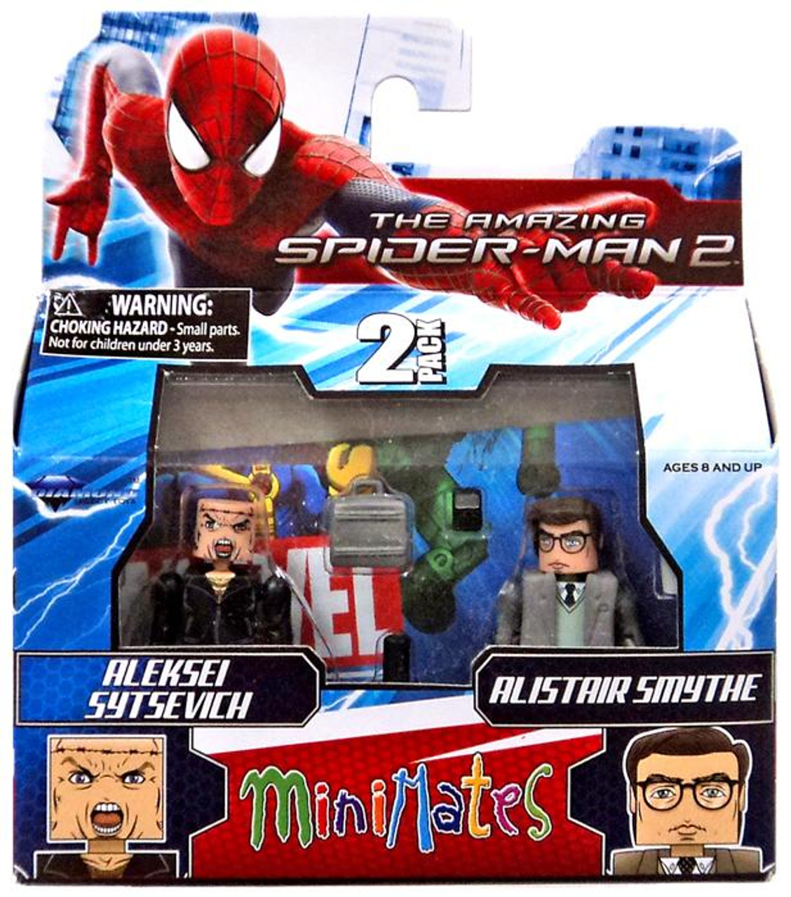 The Amazing Spider-Man 2 Minimates Series 56 Aleksei Sytsevich & Alistair Smythe Minifigure 2-Pack