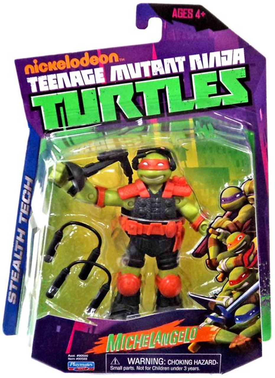 Teenage Mutant Ninja Turtles Nickelodeon Stealth Tech Michelangelo Action Figure [Without Zip Line]