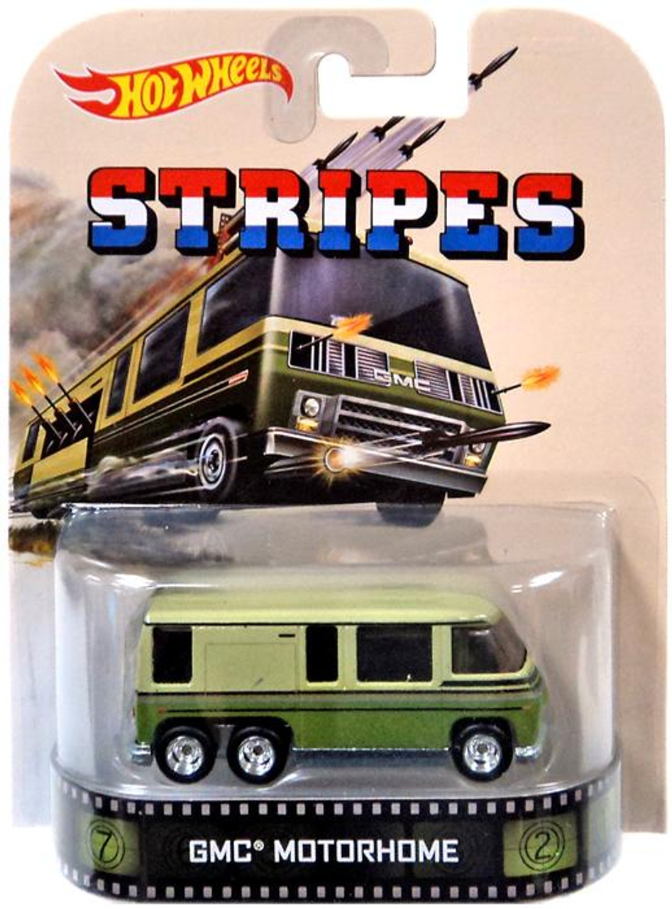 Stripes Hot Wheels Retro GMC Motorhome Diecast Vehicle