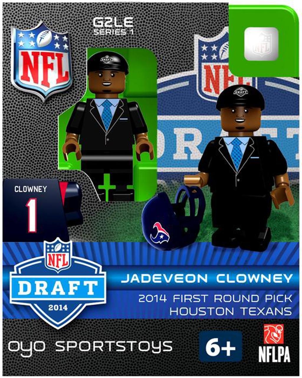 Houston Texans NFL 2014 Draft First Round Picks Jadeveon Clowney Minifigure